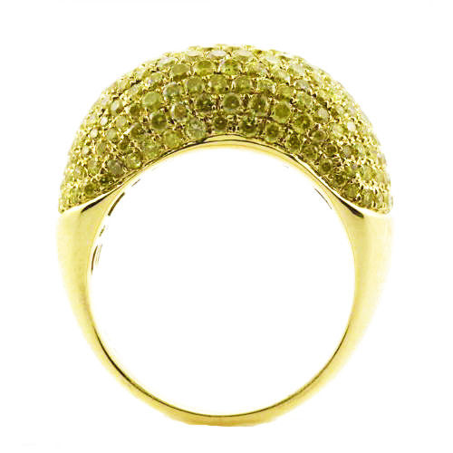 Real 2.72ct Natural Fancy Yellow Diamonds Engagement Ring 18K Solid Gold