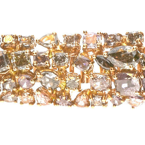 Pink Diamonds - Bracelet 28.5ct Natural Fancy Pink Mix Color 18K 38 Grams