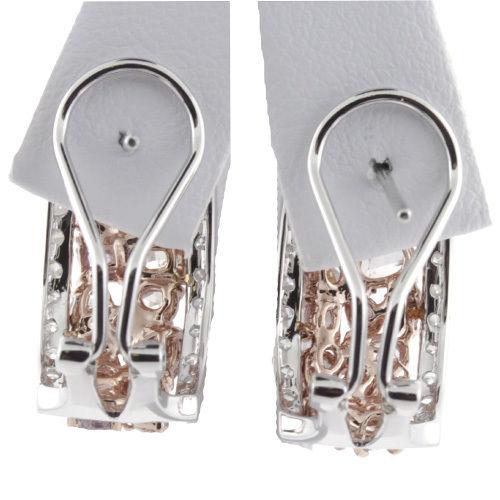 4.15ct Fancy Intense Pink Diamonds Earrings 18K All Natural 10.1 Grams W Gold