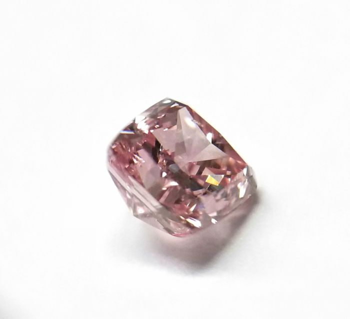 Real 0.30ct Natural Loose Fancy Intense Purple Pink Color Diamond GIA Cushion SI