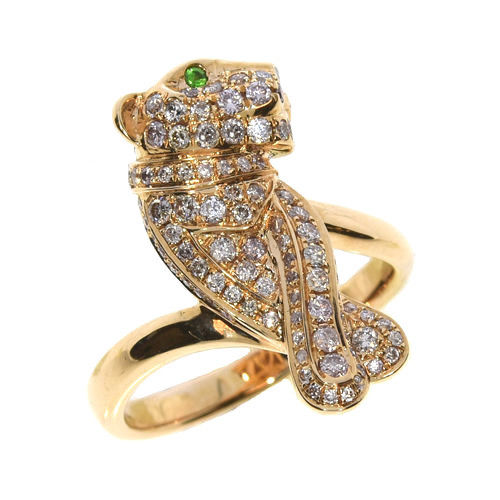 0.70ct Natural Fancy Pink Diamonds Engagement Ring 18K Solid Gold 7G Tiger