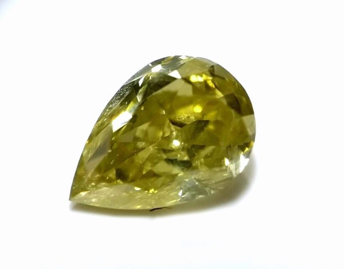 1.08ct Chameleon Diamond - Natural Loose Fancy Green Yellow Color Pear SI2
