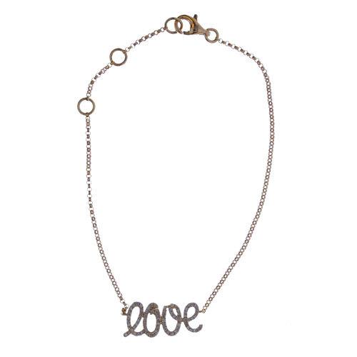ARGYLE Pink Diamonds - Bracelet 0.20ct Natural Fancy Pink 18K 1 Grams Love