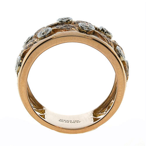 Real 0.76ct Natural Fancy Pink Diamonds Engagement Ring 18K Solid Gold 7G Rounds