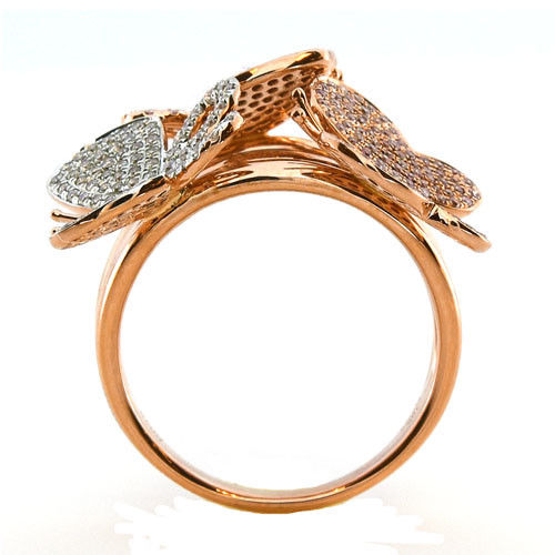 Real 1.15ct Natural Fancy Pink Diamonds Engagement Ring 18K Solid Gold 9G