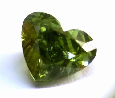 heart shape chameleon diamond