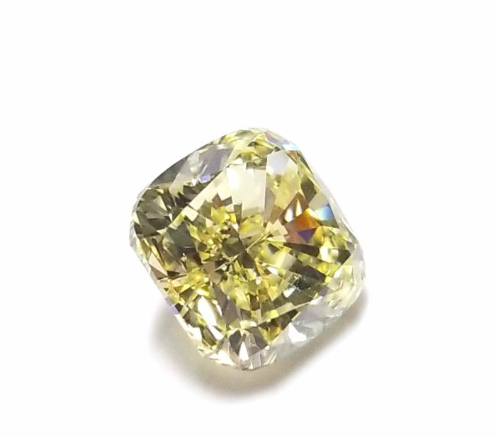 Real 2.11ct Natural Loose Fancy Yellow Color Diamond GIA Certified Cushion SI1