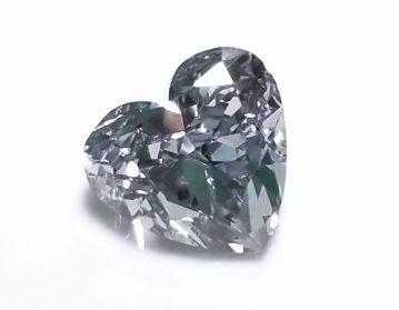 fancy gray diamond heart shape
