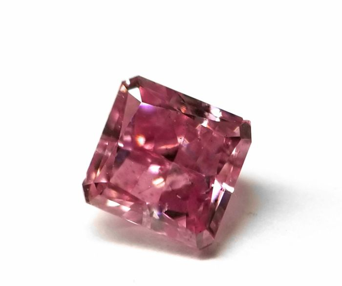 Real 0.36ct Natural Loose Fancy Intense Purple Pink Color Diamond GIA Radiant
