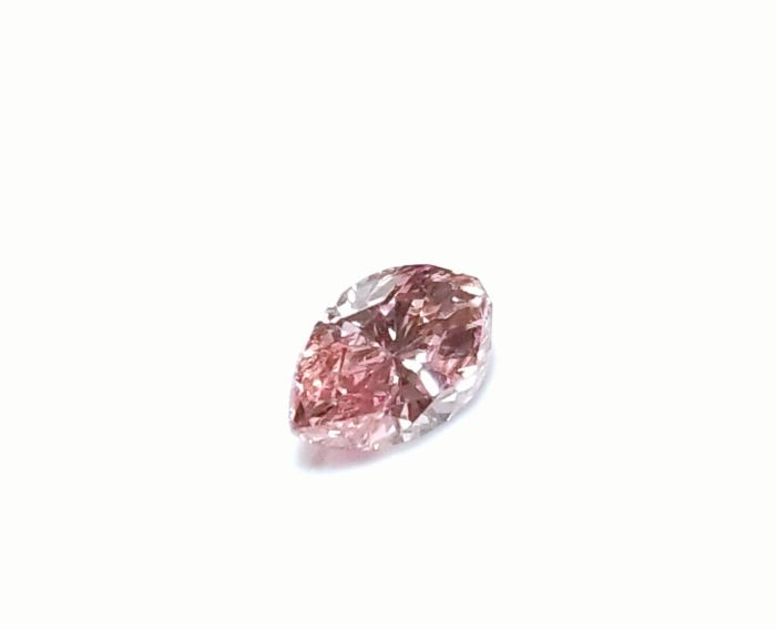 Real Pink Diamond - 0.37ct VS2 Natural Loose Fancy Orangy Pink GIA Marquise