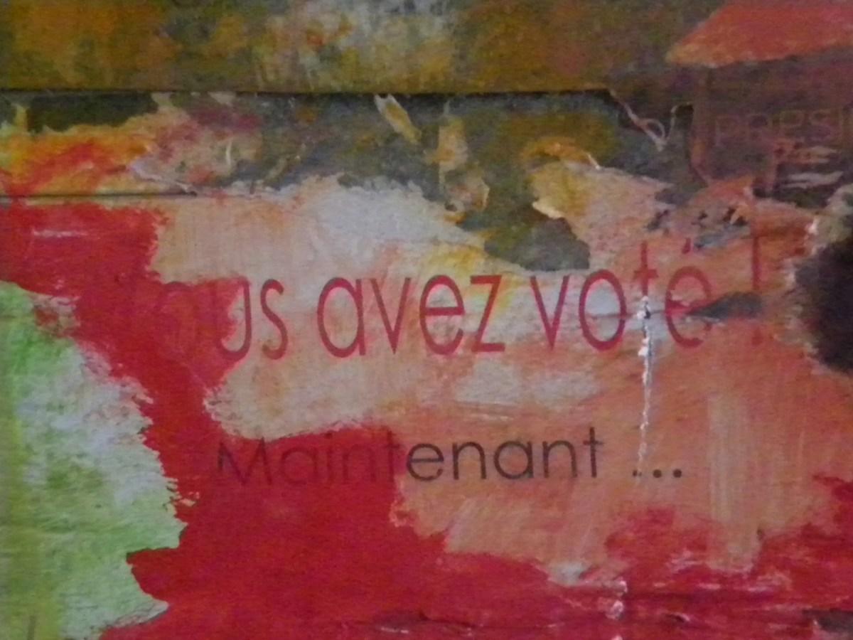 Graffiti sur un mur à Ajaccio