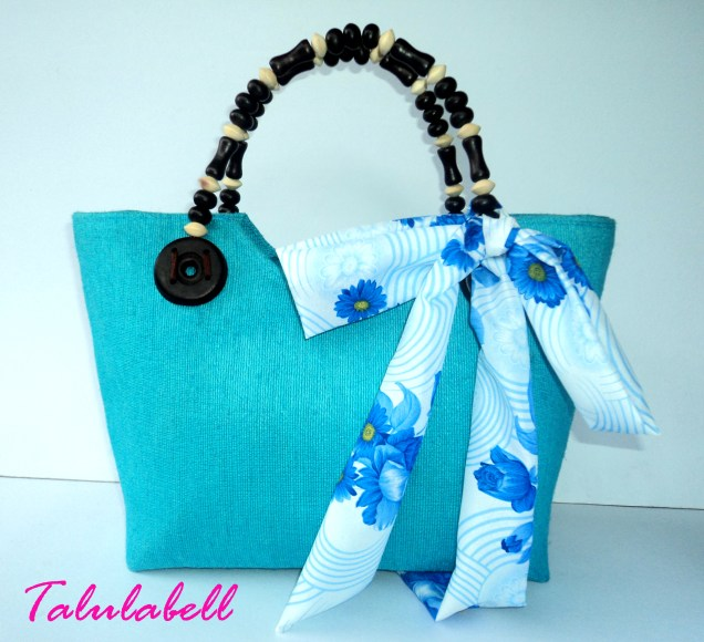 Berry Abaca Bag - Aqua Blue Product Code BE002 Php. 345.00