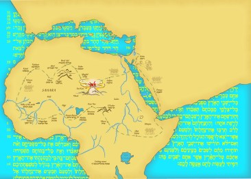Map of Israelites through the desert, created for a book cover
