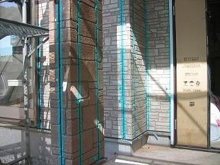 外壁のマスキング