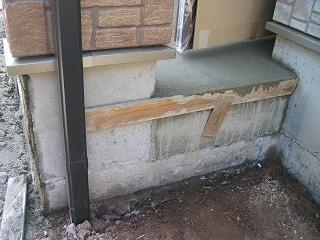 玄関ポーチ部の型枠