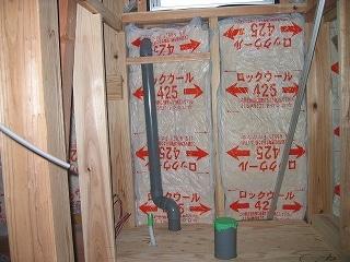 2階トイレ配管工事