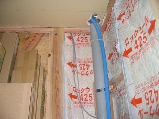 2階から1階へのトイレ配管