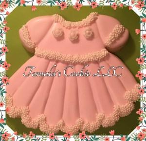Pretty Pink Dress Cookie