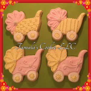 Baby Shower Carriage Cookie