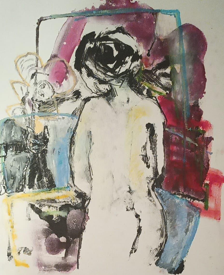 Nocturnale - Encre, pastel gras et mine noire sur papier - 38x32cm - 2020#lưuvăntâm  #dessincontemporain  #artcontemporain  #papier #oeuvresurpapier #contemporarydrawing  #contemporaryart  #workonpaper #artforsale