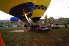 Balloons preparing to take off