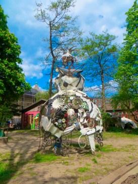 Junkyard sculptures