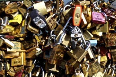Collection of padlocks