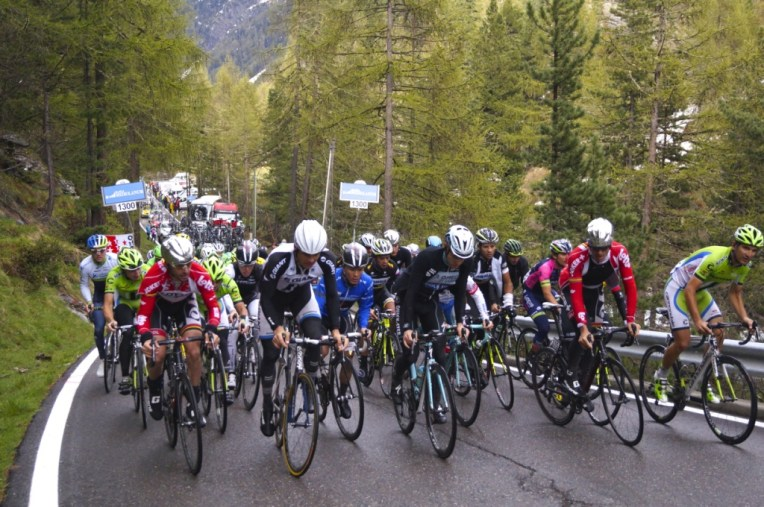 The rest of the peleton