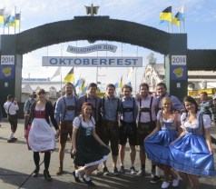 The gates to Oktoberfest