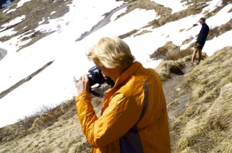 Marg capturing the marmots