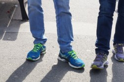 Sneakers and jeans