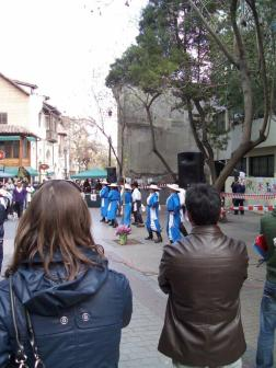 Dancers near San Cristobal
