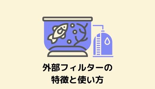 【初心者には難しい】外部フィルターの特徴と使い方【おすすめの商品も紹介】