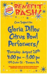 8-20-2015, Gloria Dillon Citris Bowl performers, Fundraiser, Burger King, Tamaqua