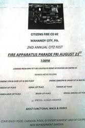 8-21-2015, Citizens Fire Company Fire Apparatus Parade, PRe Citz Fest, Mahanoy City