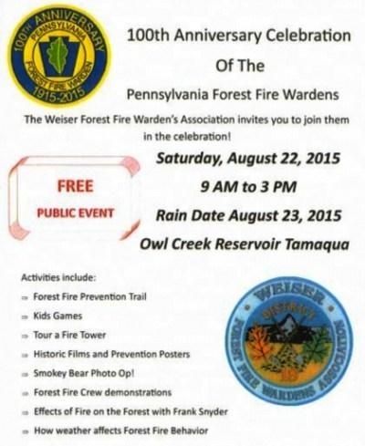 8-22-2015, 100th Anniversary Celebration of PA Forest Fire Wardens, Owl Creek Reservoir, Tamaqua
