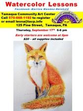 9-17-2015, Water Color Lessons, Tamaqua Community Arts Center, Tamaqua