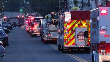 Apparatus Parade during Citz Fest, Citizens Fire Company, Mahanoy City, 8-21-2015 (144)
