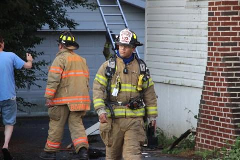 House Fire, 14 West Cherry Street, Tresckow, 8-17-2015 (123)