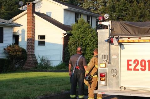 House Fire, 14 West Cherry Street, Tresckow, 8-17-2015 (164)