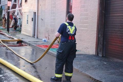 House Fire, 40-42 West Water Street, US209, Coaldale, 8-4-2015 (564)
