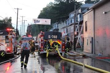 House Fire, 40-42 West Water Street, US209, Coaldale, 8-4-2015 (591)