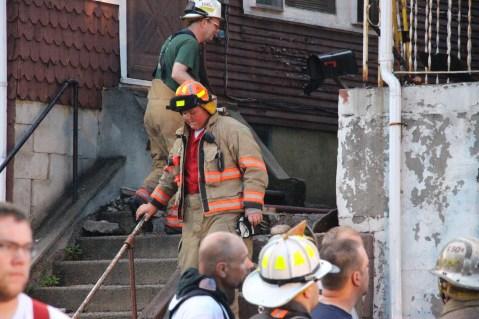 House Fire, 40-42 West Water Street, US209, Coaldale, 8-4-2015 (620)