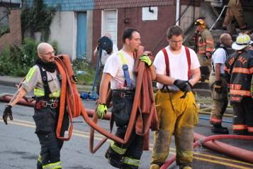 House Fire, 40-42 West Water Street, US209, Coaldale, 8-4-2015 (621)