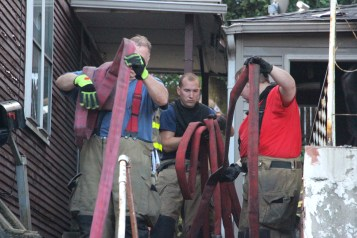 House Fire, 40-42 West Water Street, US209, Coaldale, 8-4-2015 (715)