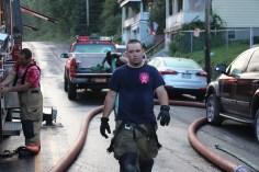 House Fire, 40-42 West Water Street, US209, Coaldale, 8-4-2015 (723)