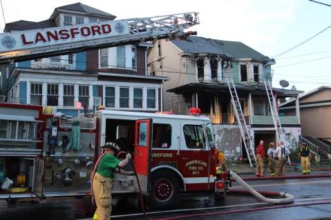 House Fire, 40-42 West Water Street, US209, Coaldale, 8-4-2015 (752)