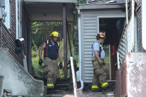 House Fire, 40-42 West Water Street, US209, Coaldale, 8-4-2015 (777)