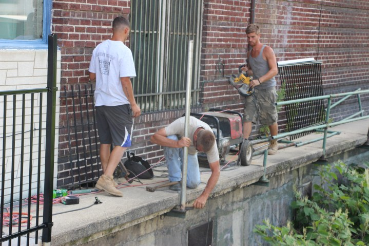 New Fence Along Little Schuylkill River, East Broad Street, Tamaqua (10)