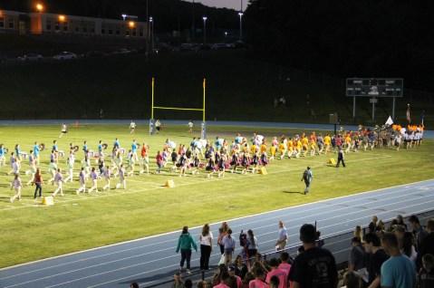 Raider Marching Band during Fall Meet The Raiders, TASD Sports Stadium, Tamaqua, 8-26-2015 (263)